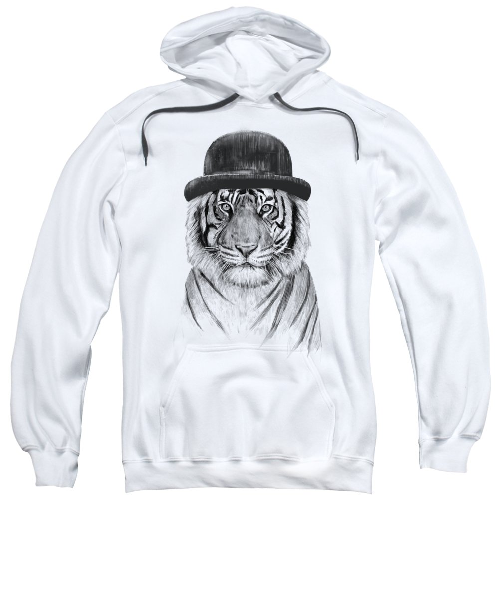 Tiger Sweatshirt featuring the drawing Welcome to the jungle by Balazs Solti