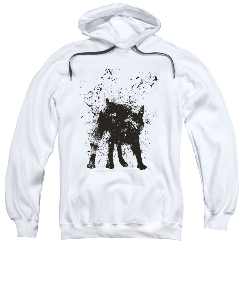 Dog Sweatshirt featuring the painting Wet dog by Balazs Solti