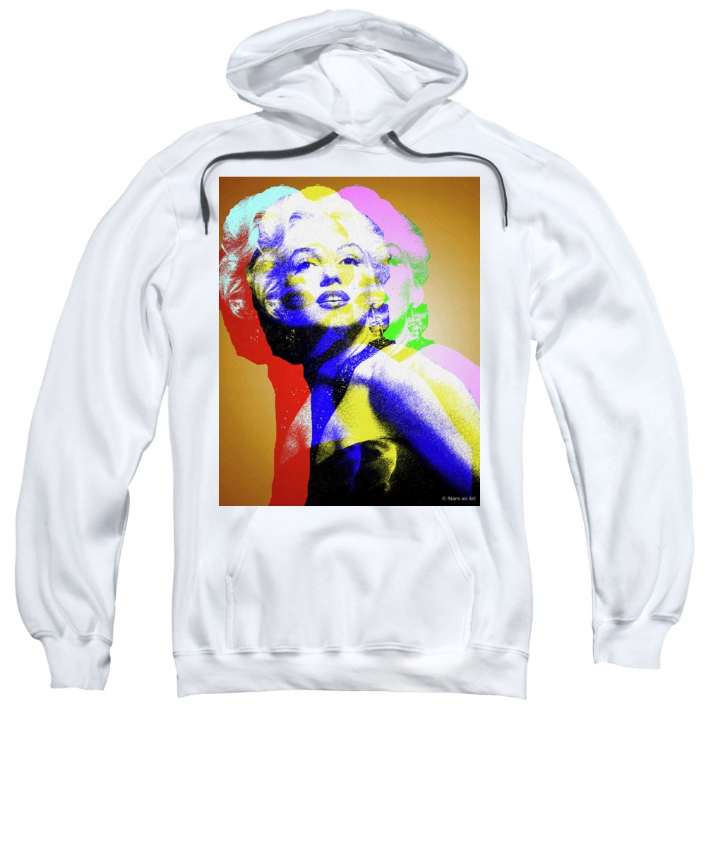 Marilyn Sweatshirt featuring the digital art Marilyn Monroe by Stars on Art