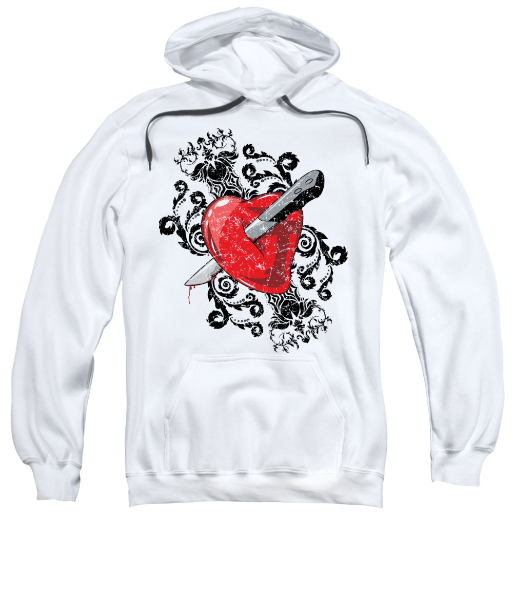 Halloween Sweatshirt featuring the digital art Anti Valentines Day by Passion Loft