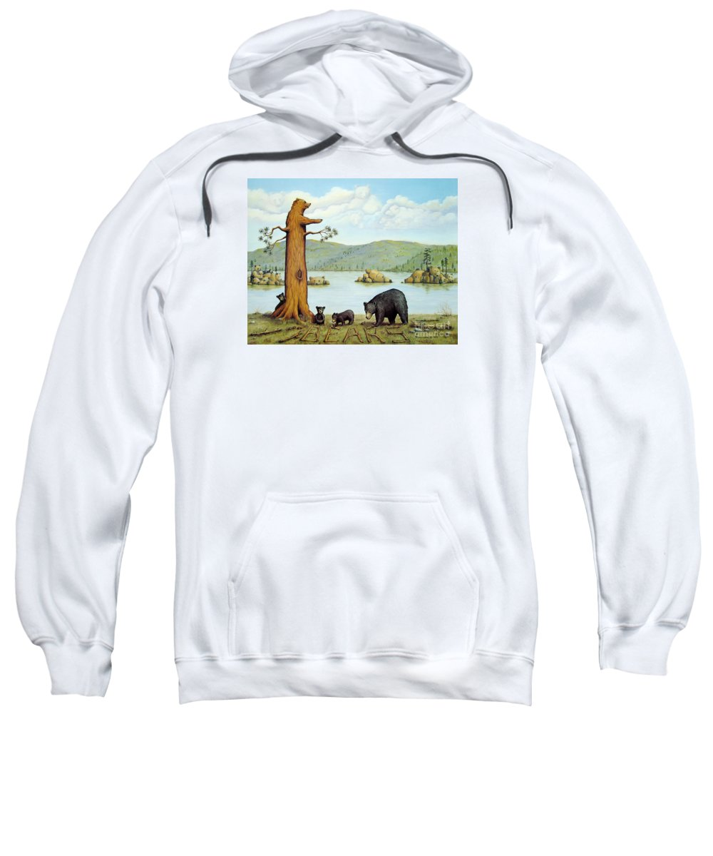 Bears Sweatshirt featuring the painting 27 Bears by Jerome Stumphauzer