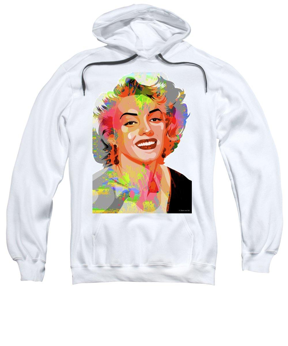 Marilyn Sweatshirt featuring the painting Marilyn Monroe by Stars on Art