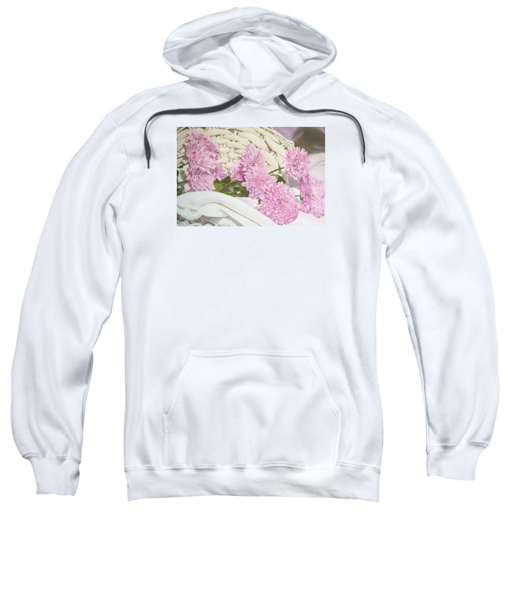 Fine Art Print Sweatshirt featuring the painting Floral Art Print For Sale Still Life Oil Painting by Diane Jorstad