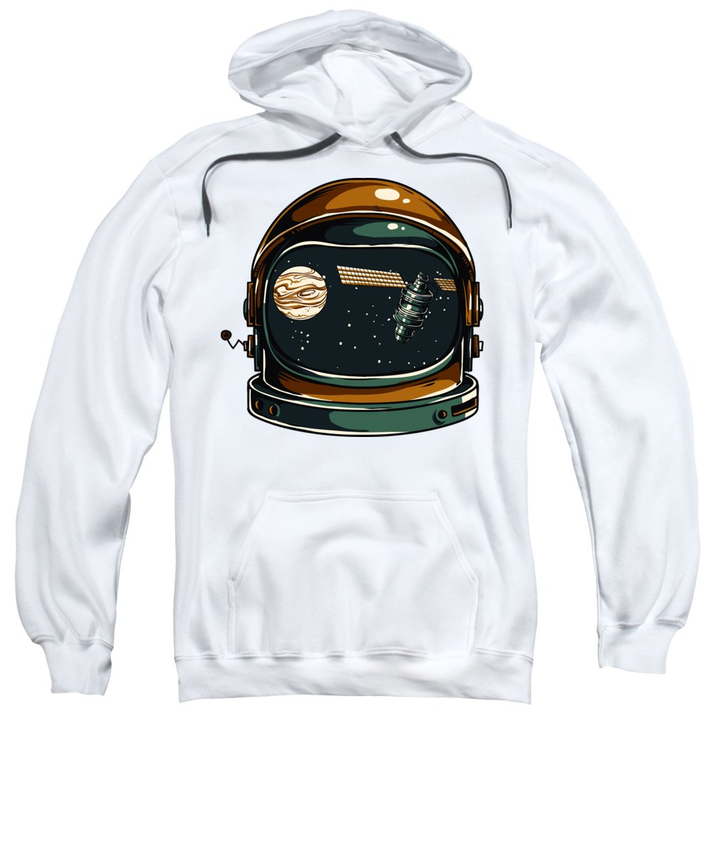 Spaceman Sweatshirt featuring the digital art Astronaut by Passion Loft