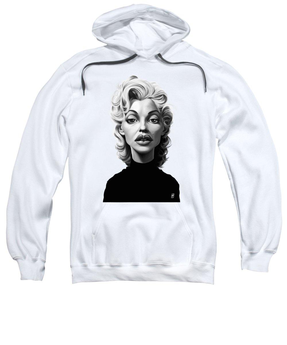 Illustration Sweatshirt featuring the digital art Celebrity Sunday - Marilyn Monroe by Rob Snow