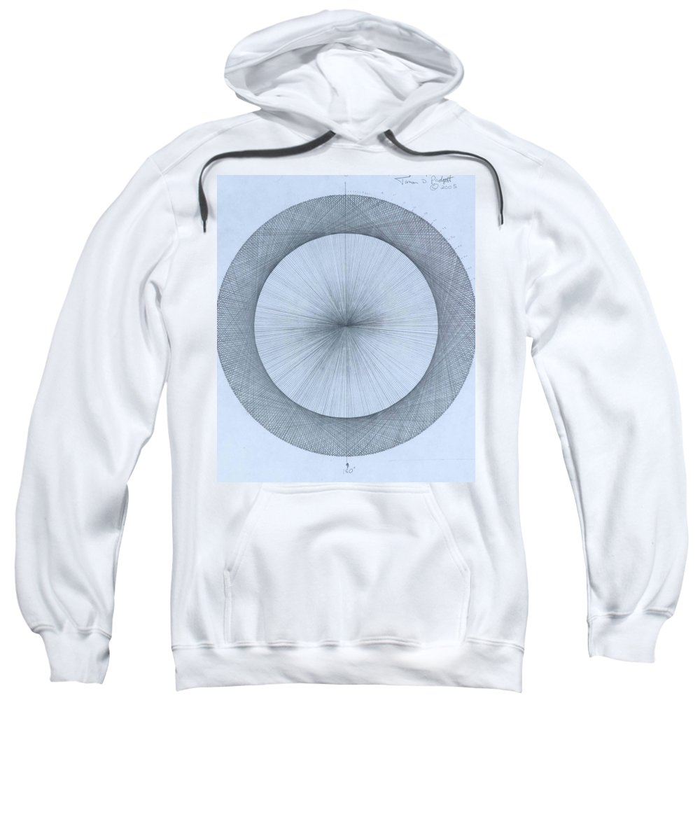 Circle Sweatshirt featuring the drawing Circles do not exist one degree by Jason Padgett