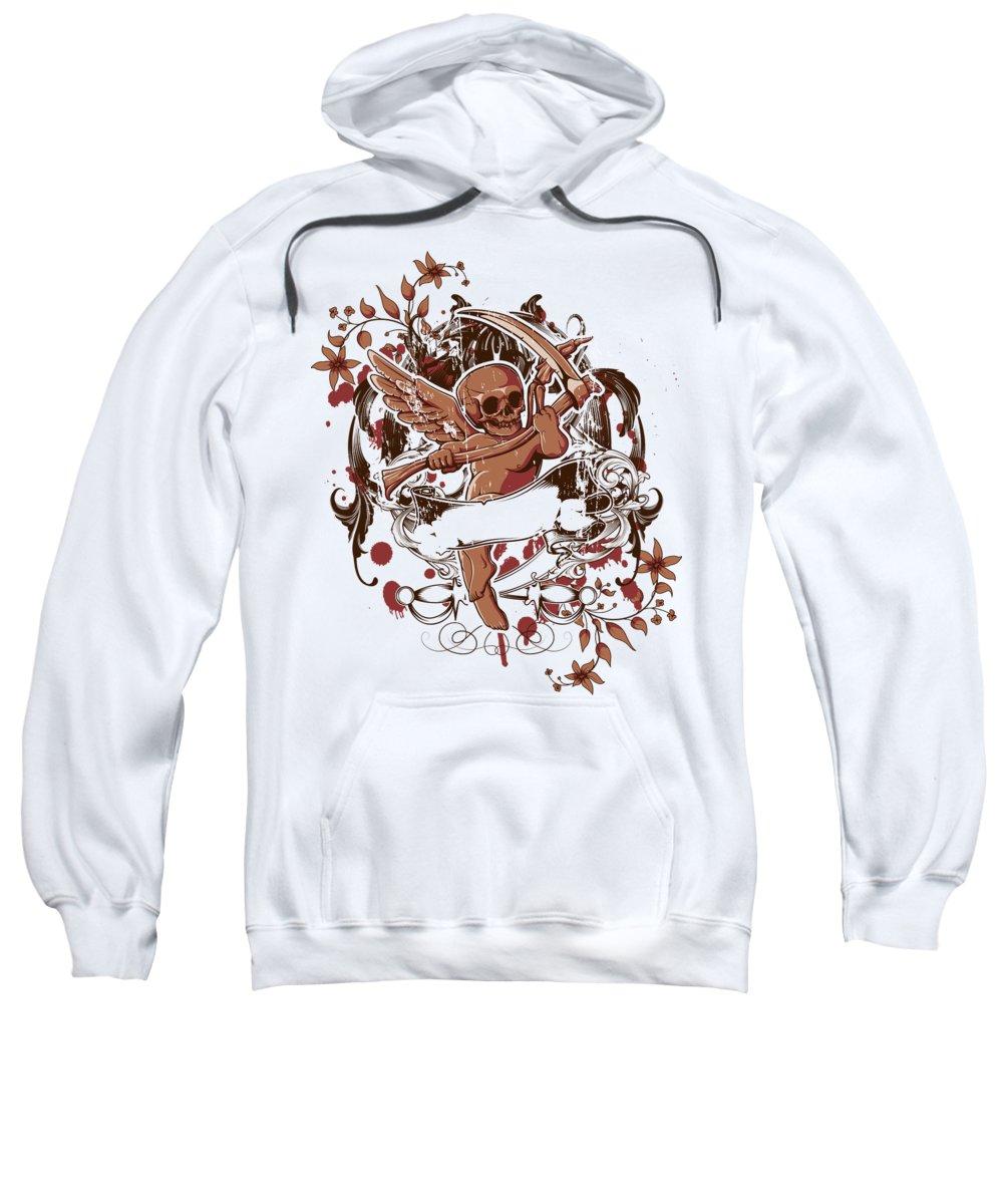 Halloween Sweatshirt featuring the digital art Death Angel by Jacob Zelazny