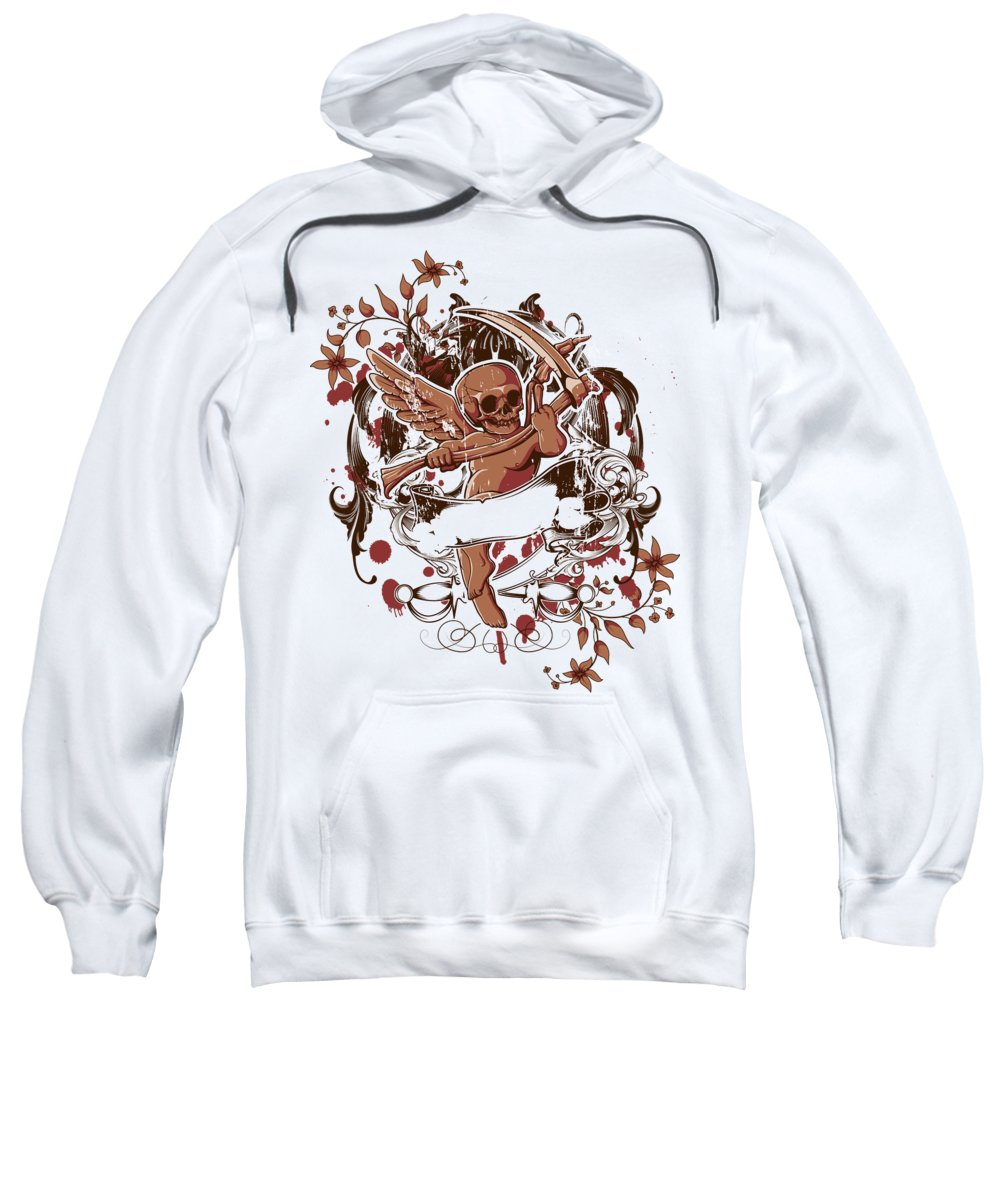 Halloween Sweatshirt featuring the digital art Death Angel by Passion Loft