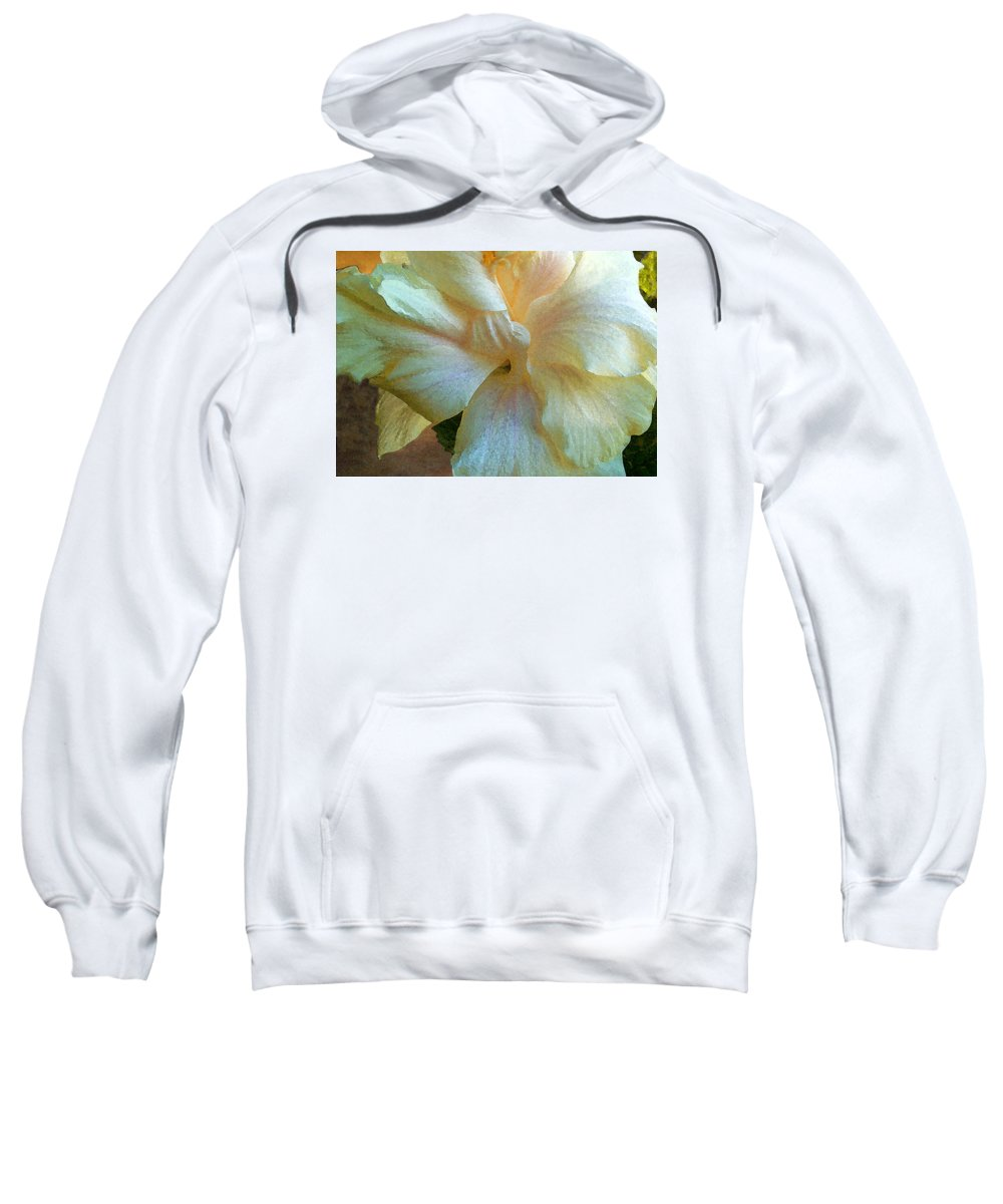 Hawaiian Flowers Sweatshirt featuring the photograph Evening Hibiscus by James Temple