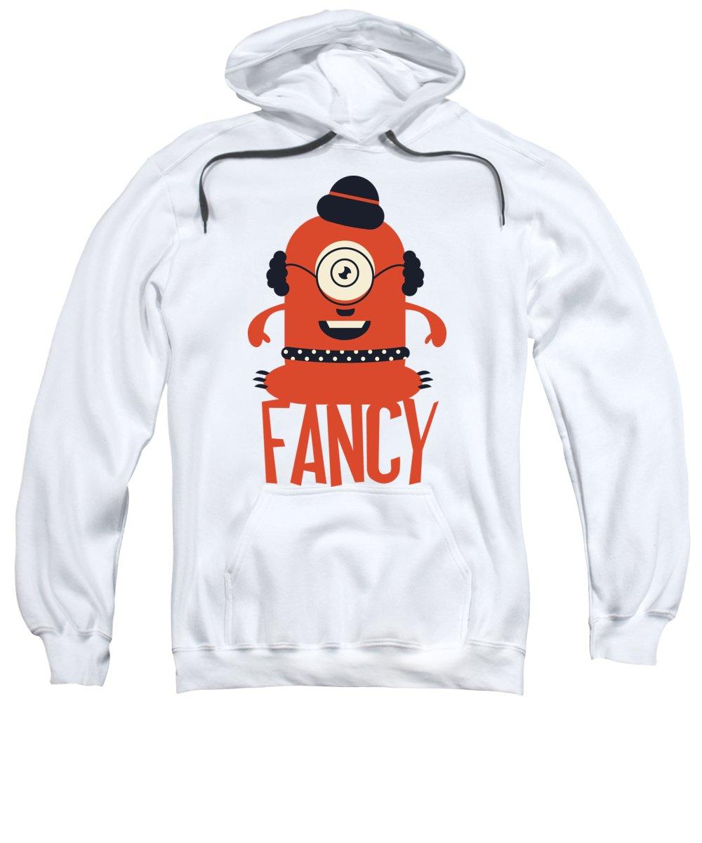 Cartoon Sweatshirt featuring the digital art Fancy Monster by Jacob Zelazny