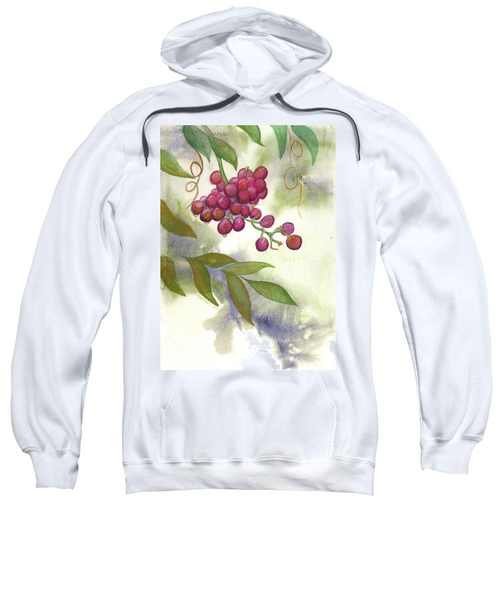 Rick Huotari Sweatshirt featuring the painting Grapes Divine by Rick Huotari
