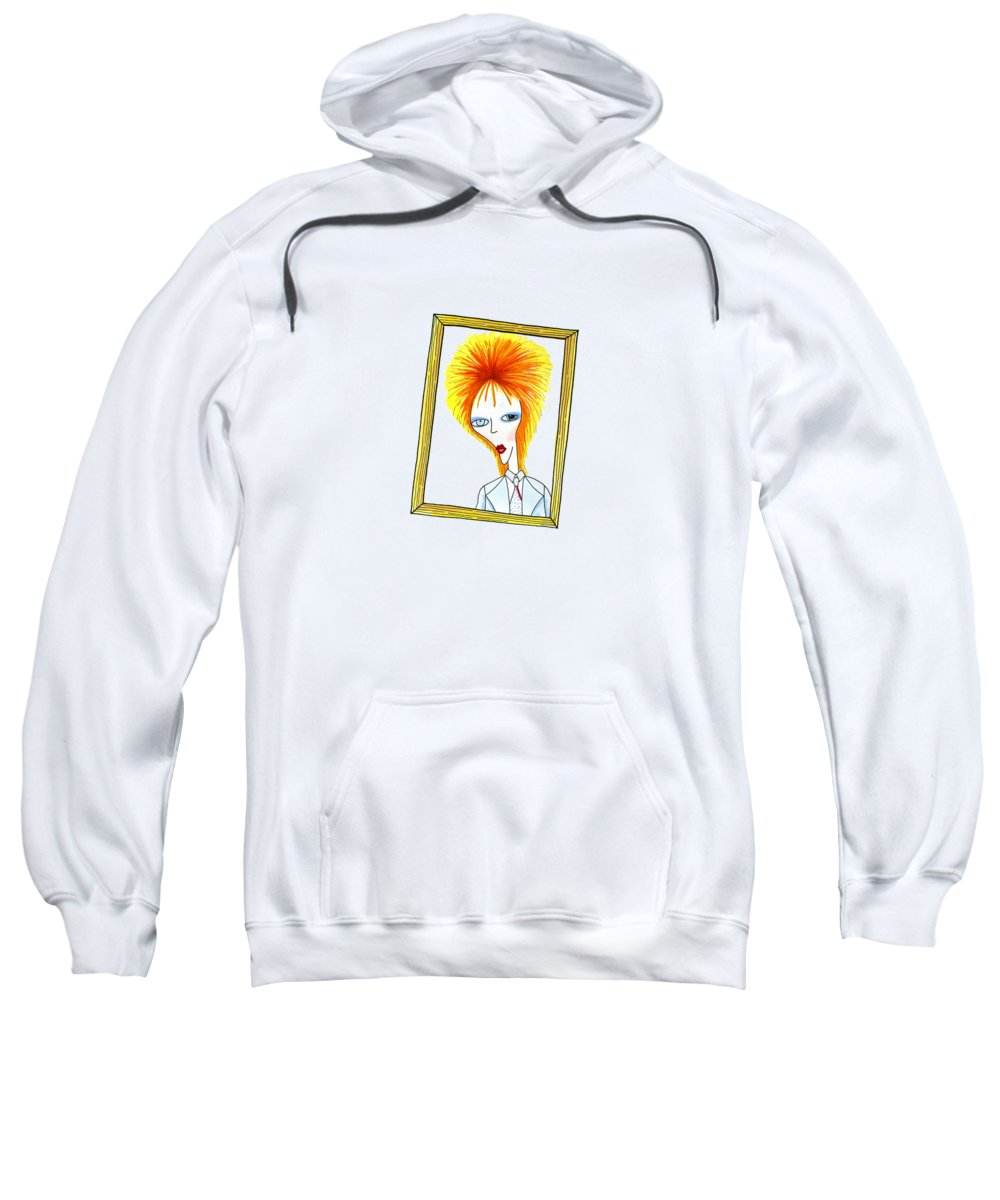 Pen Sweatshirt featuring the mixed media Life On Mars by Andrew Hitchen