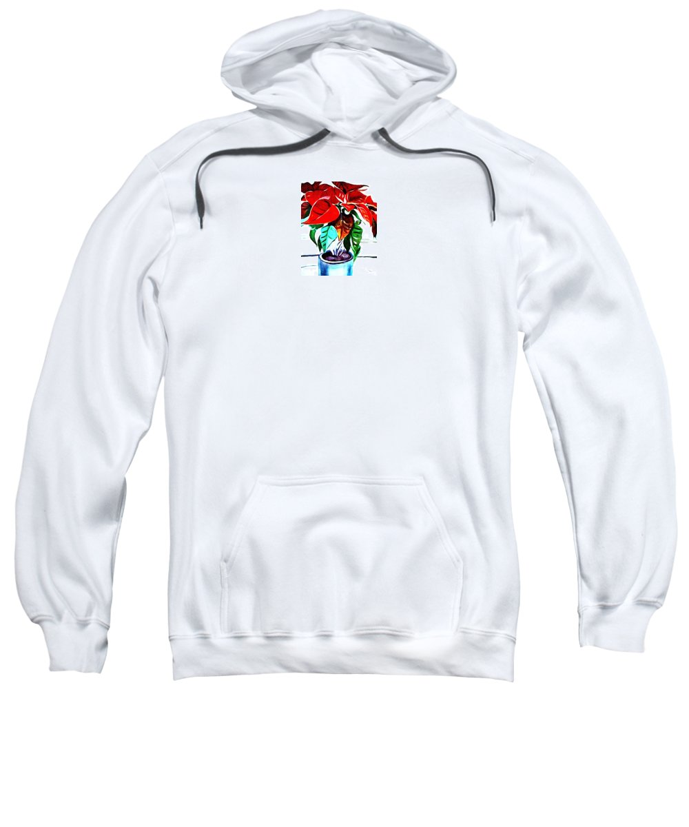 Still Life Sweatshirt featuring the painting Living Flower by Andrew Johnson