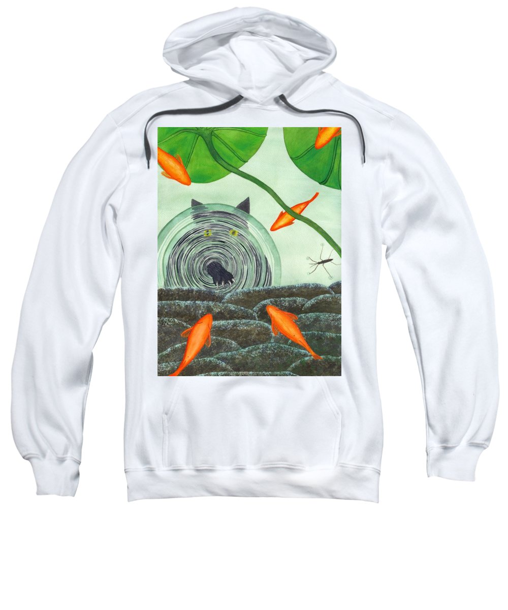 Goldfish Sweatshirt featuring the painting Marco Polo by Catherine G McElroy