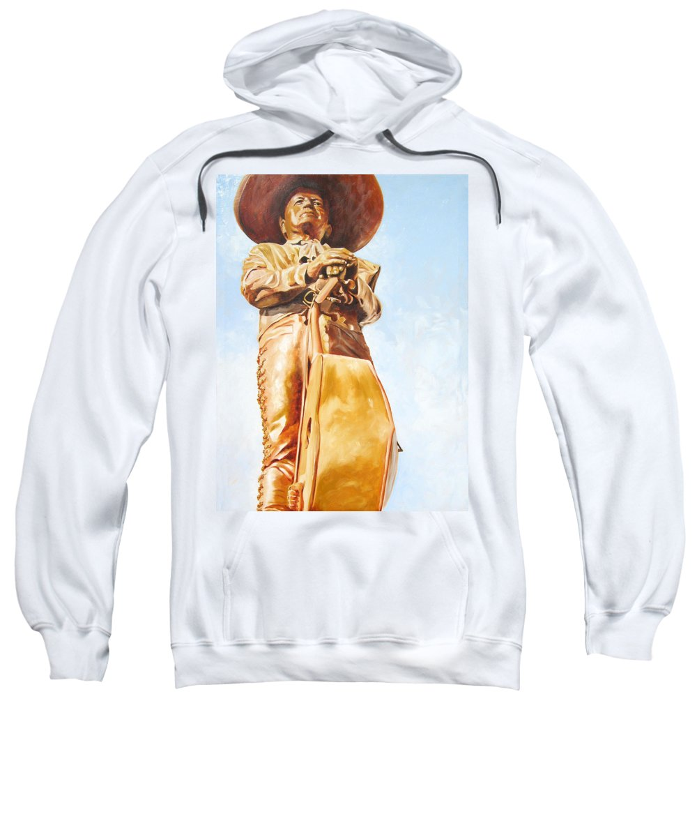 Mariachi Sweatshirt featuring the painting Mariachi by Laura Pierre-Louis