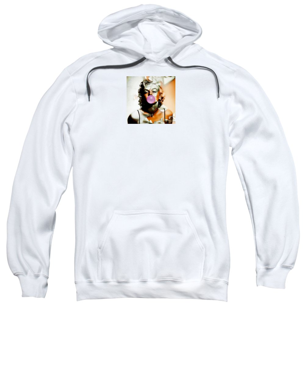 Marilyn Monroe Sweatshirt featuring the mixed media Marilyn Monroe Bubble by Marvin Blaine