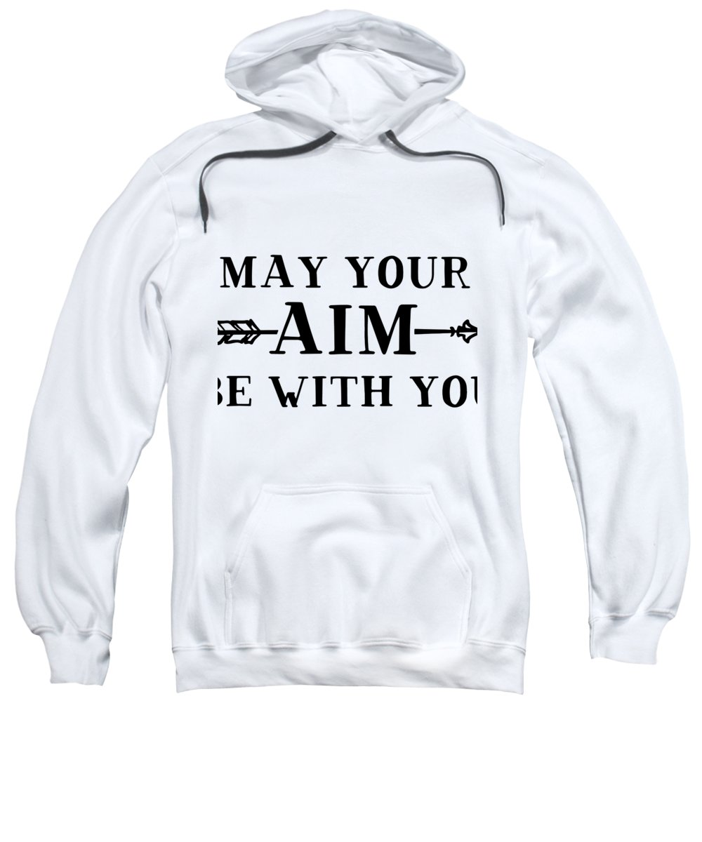 Archer Sweatshirt featuring the digital art May Your Aim Be With You by Passion Loft