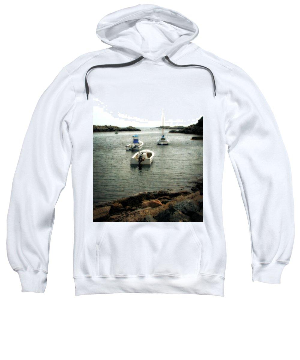 Ocean Sweatshirt featuring the photograph Newport Rhode Island Shoreline by Michelle Calkins