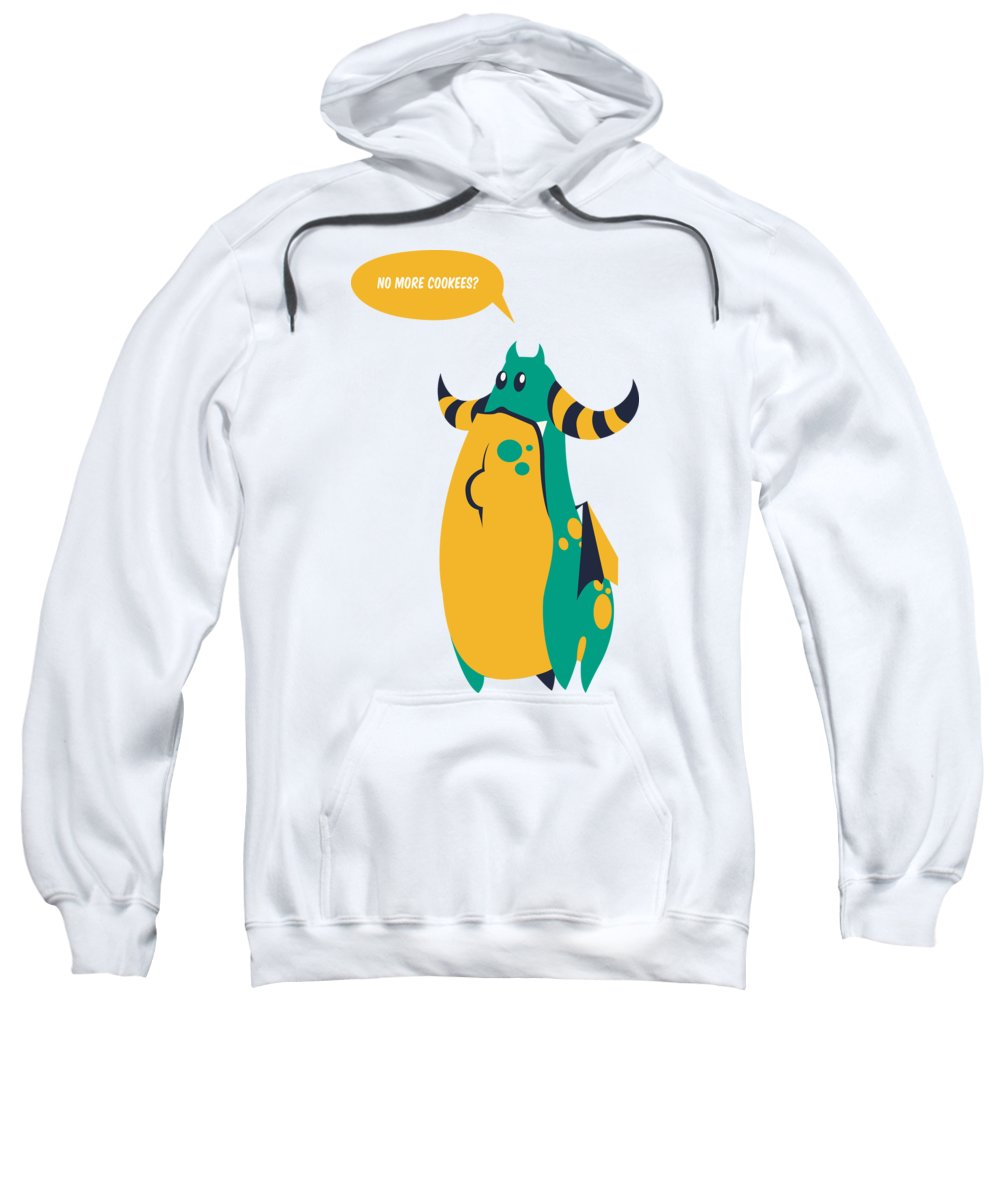 Monster Sweatshirt featuring the digital art No More Cookees by Jacob Zelazny