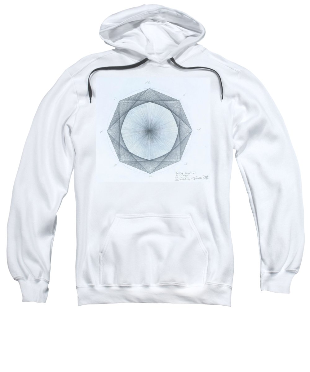 Octagon Sweatshirt featuring the drawing Octagon limits by Jason Padgett