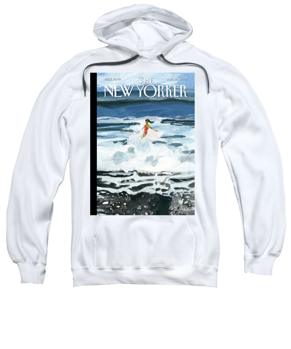 Summer Sweatshirt featuring the painting Out Of The Blue by Gayle Kabaker