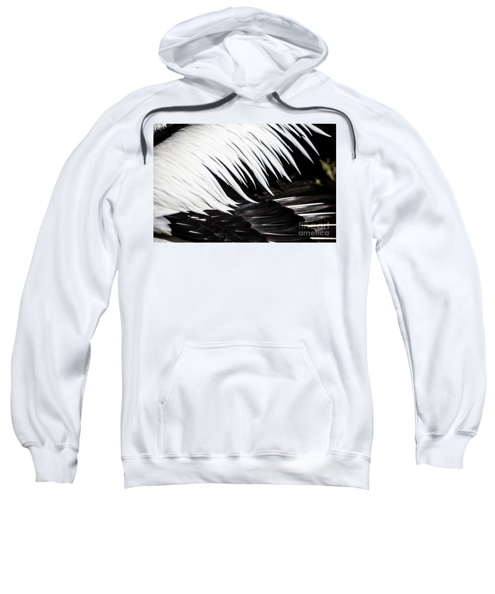 Feathers Sweatshirt featuring the photograph Pelican feathers by Sheila Smart Fine Art Photography