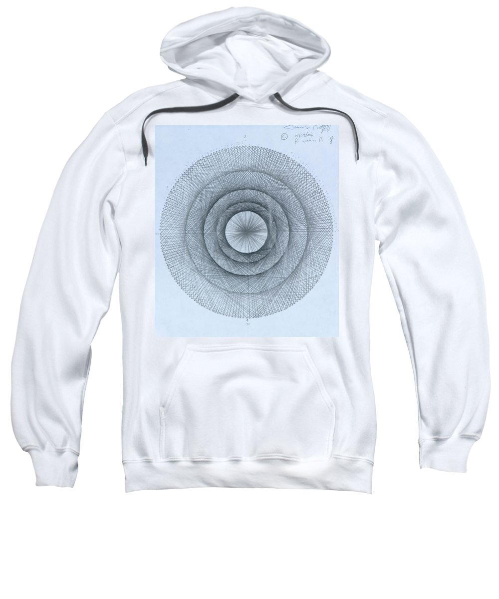 Pi Sweatshirt featuring the drawing Pi within Pi by Jason Padgett