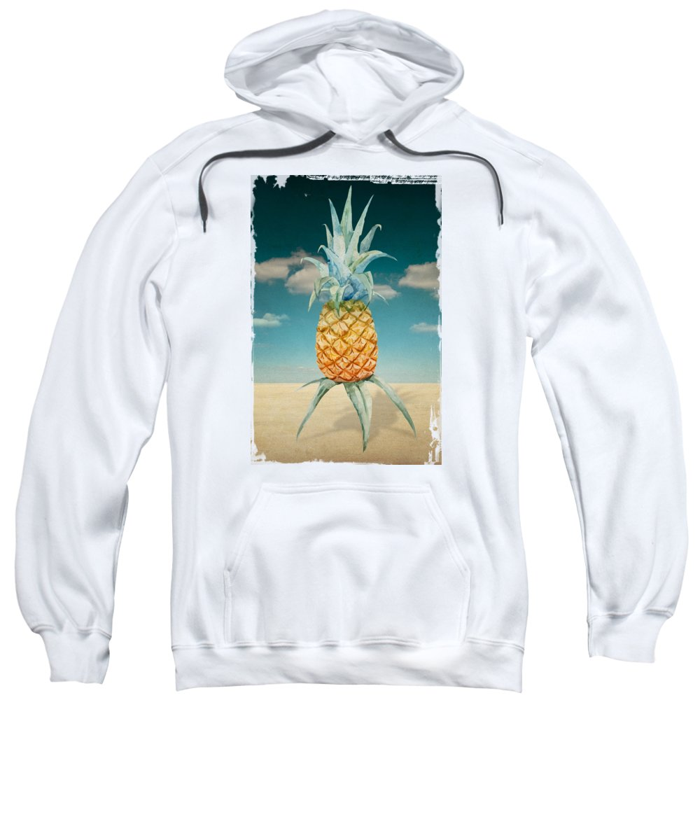 Pineapple Sweatshirt featuring the digital art Pineapple Vintage by Mark Ashkenazi