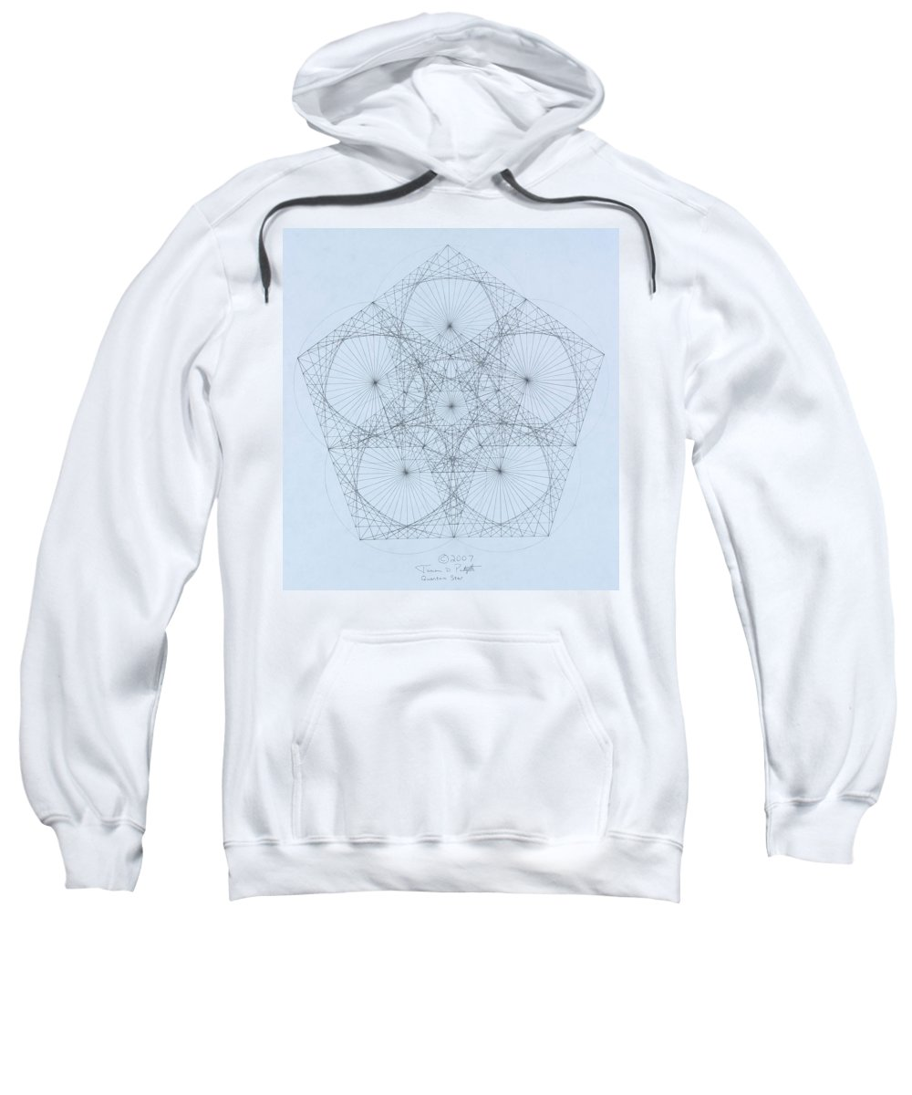 Star Sweatshirt featuring the drawing Quantum Star high res. by Jason Padgett