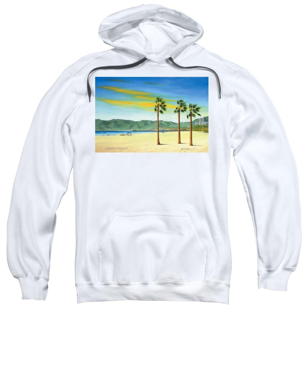 Santa Monica Sweatshirt featuring the painting Santa Monica by Jerome Stumphauzer
