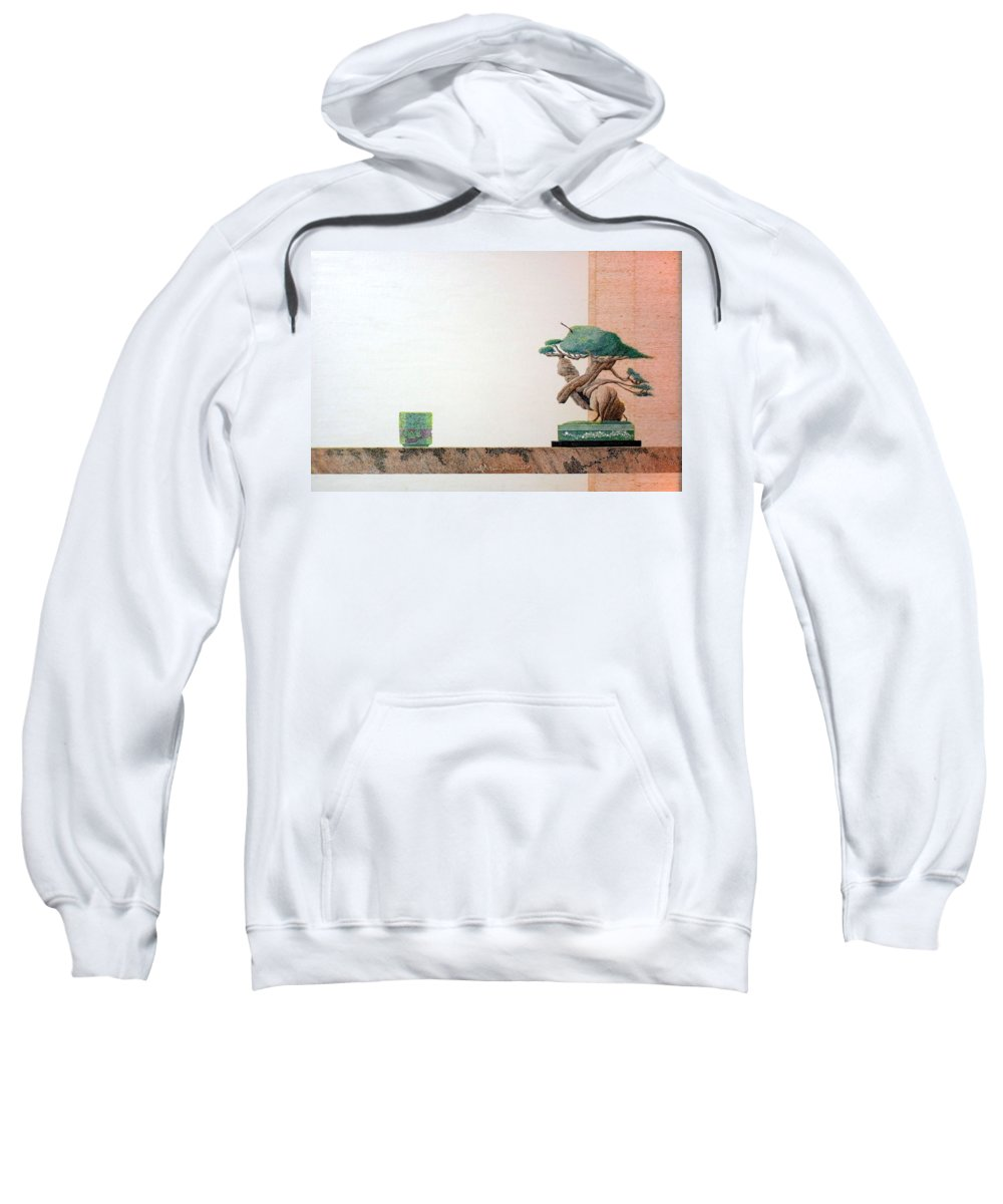 Still Life Sweatshirt featuring the painting Second Cup by A Robert Malcom