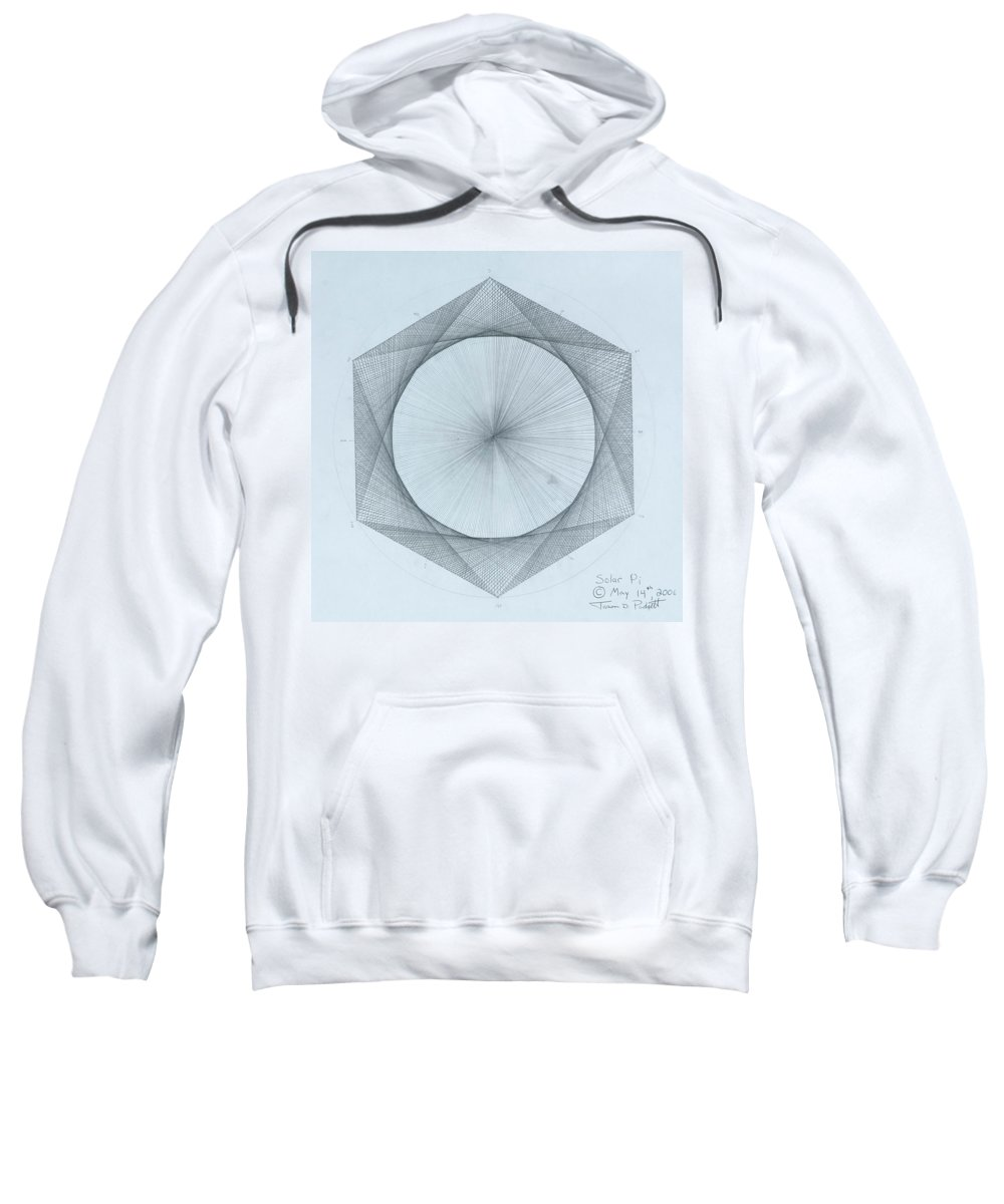 Solar Sweatshirt featuring the drawing Solar Pi by Jason Padgett
