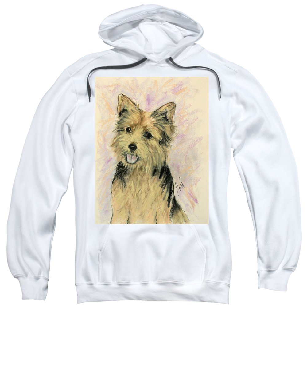 Dog Sweatshirt featuring the drawing Soulmate by Cori Solomon