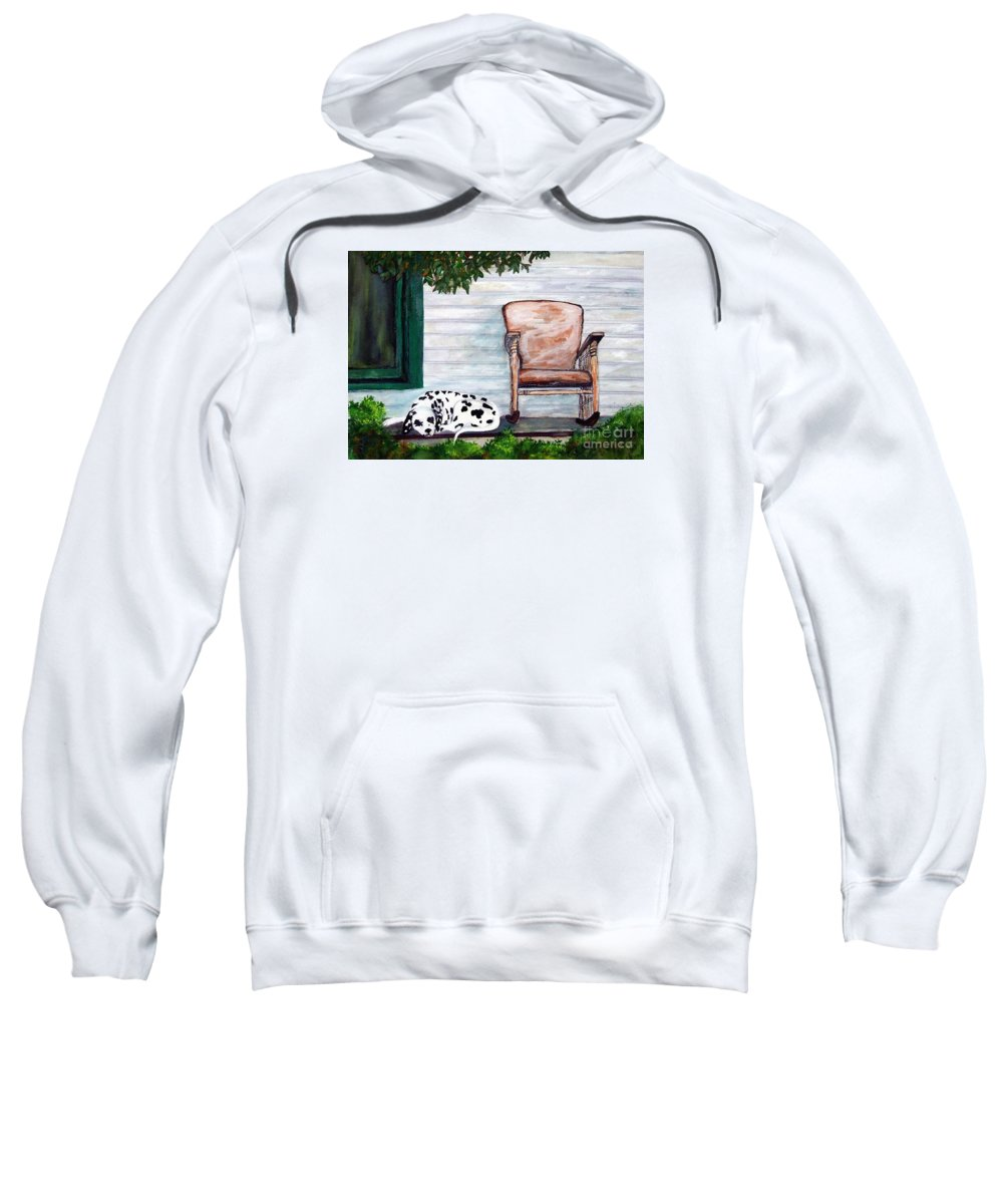 Dog Sweatshirt featuring the painting Summer Evening by Jacki McGovern