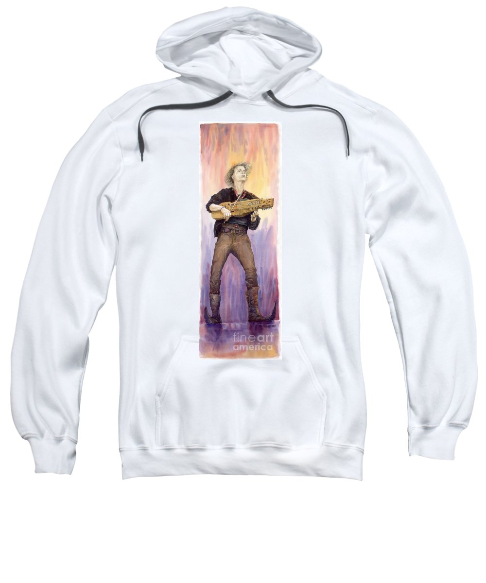 Watercolour Sweatshirt featuring the painting Varius Coloribus Renaldo Renaldini by Yuriy Shevchuk