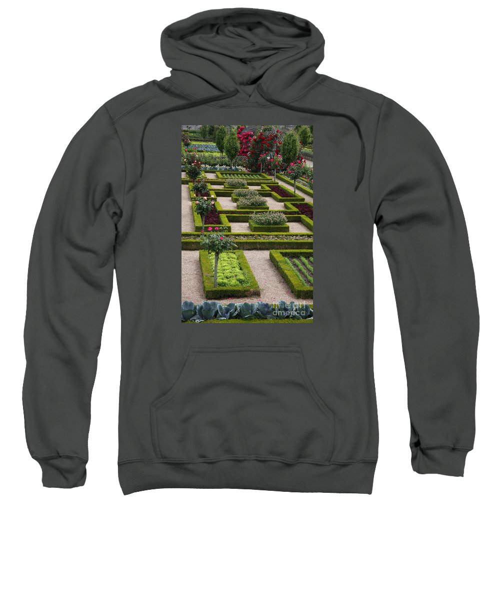Cabbage Sweatshirt featuring the photograph Cabbage Garden Chateau Villandry by Christiane Schulze Art And Photography