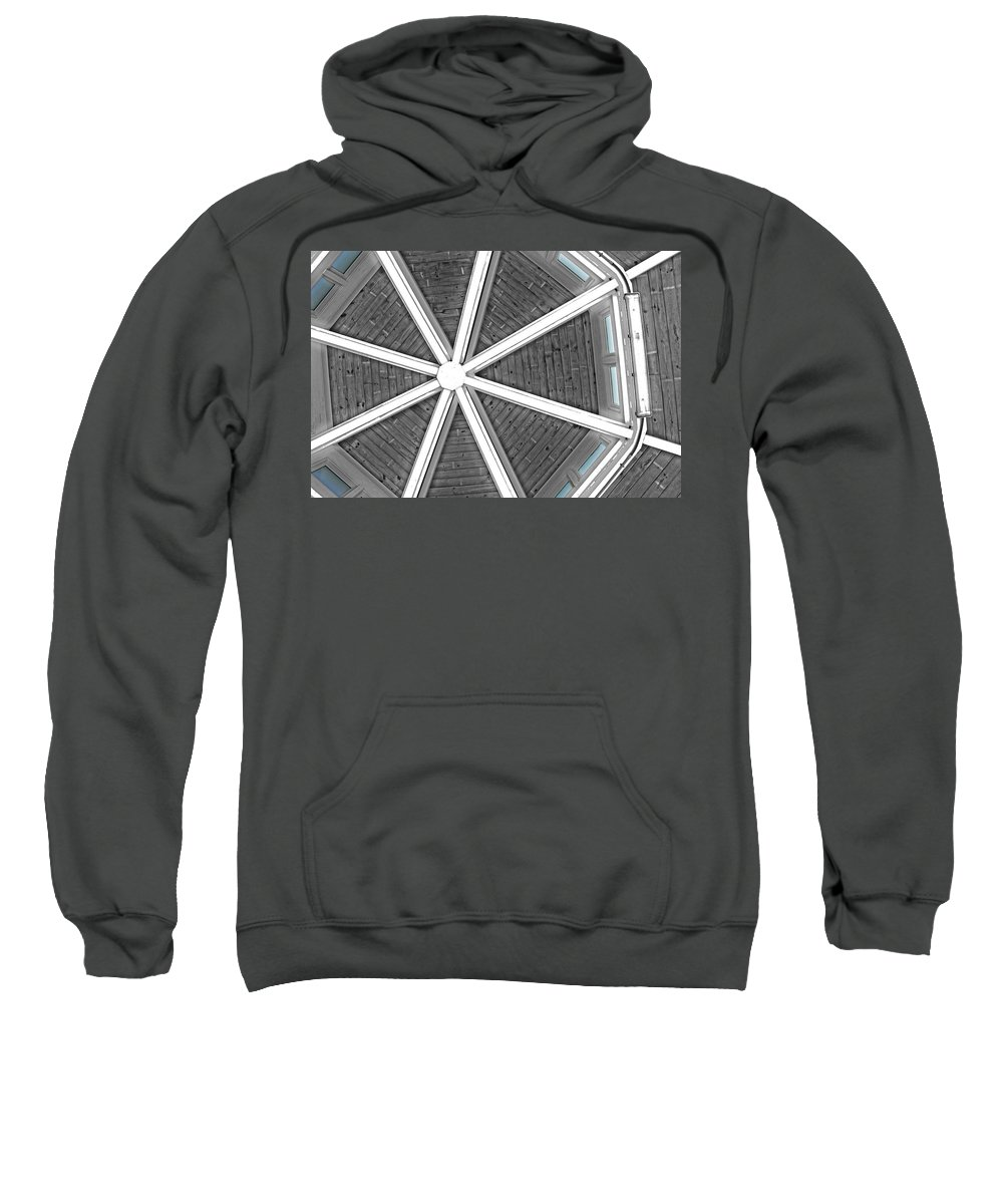 Building Sweatshirt featuring the photograph Different Point Of View by Tom Gari Gallery-Three-Photography