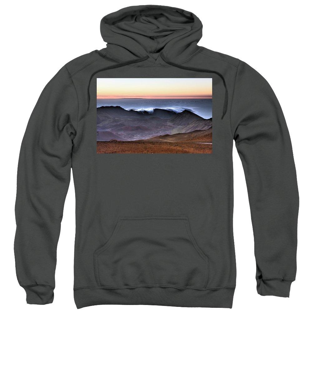 Adventure Sweatshirt featuring the photograph Sunrise At Haleakala Crater, Maui by Reinhard Dirscherl
