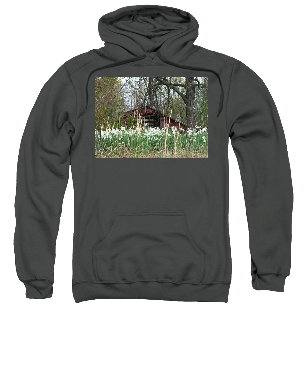 White Flowers Sweatshirt featuring the photograph Sunshine And Flowers by Bonnie Willis