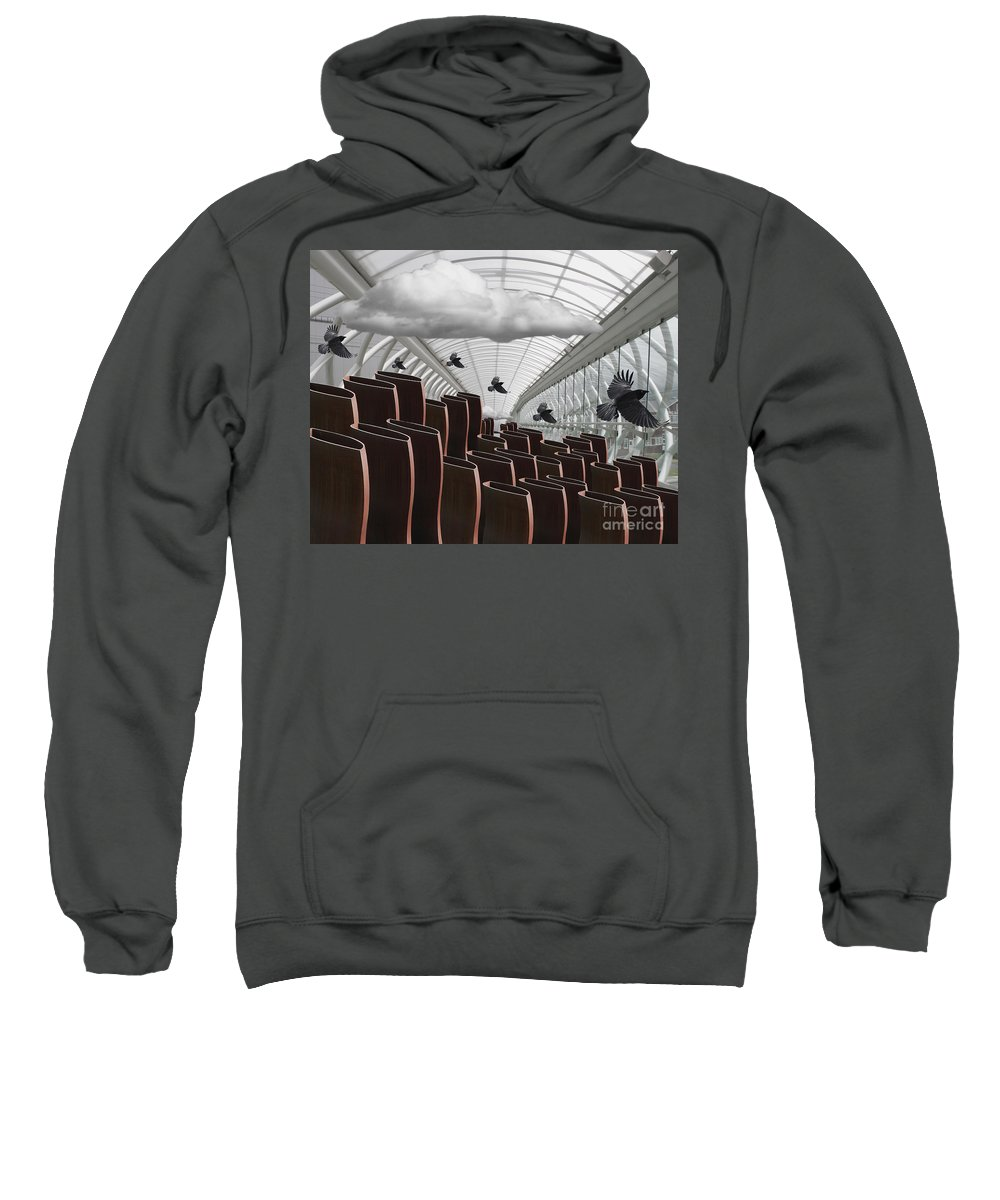 Shapes Sweatshirt featuring the digital art The Hall Of Giants by Keith Dillon