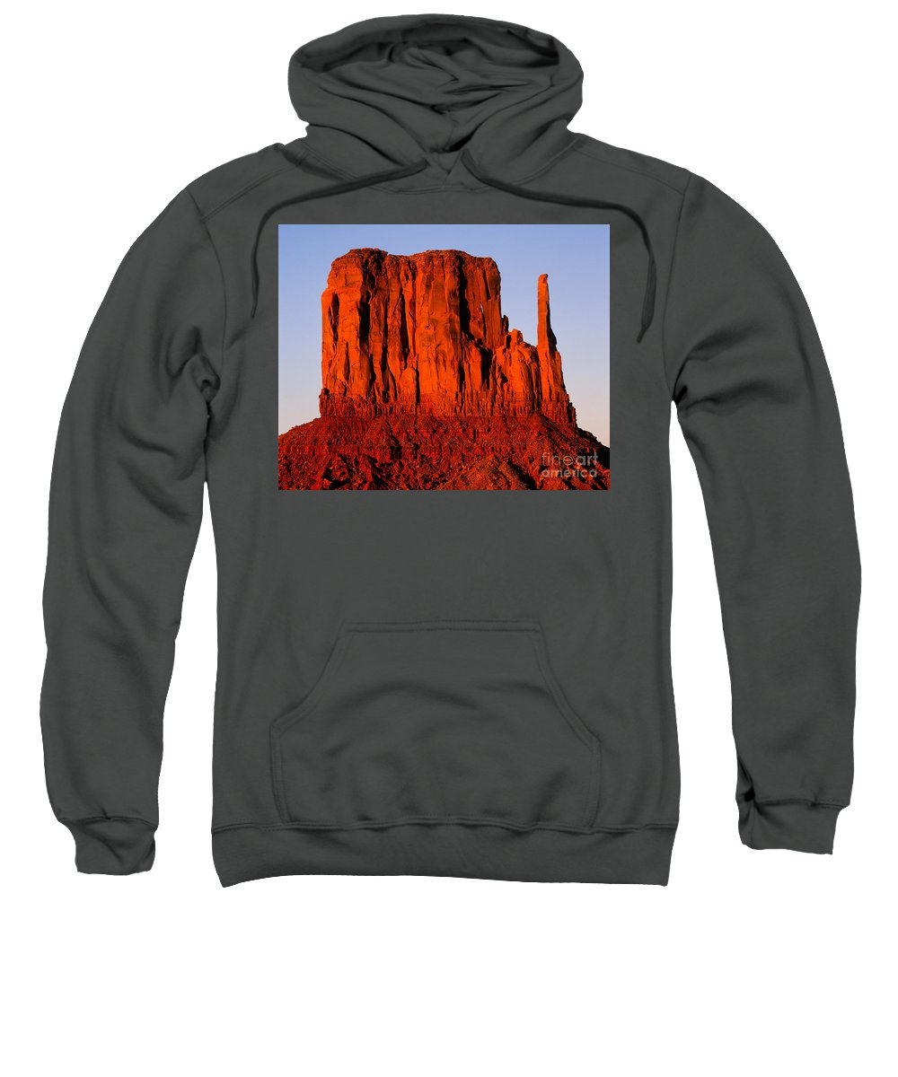 Arizona Sweatshirt featuring the photograph West Mitten Sunset by Tracy Knauer
