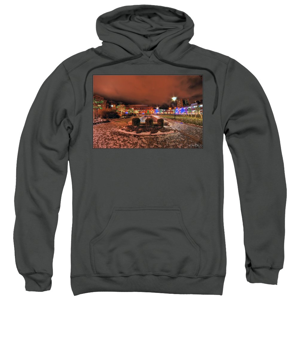 Sweatshirt featuring the photograph 0010 Christmas Light Show At Roswell Series by Michael Frank Jr