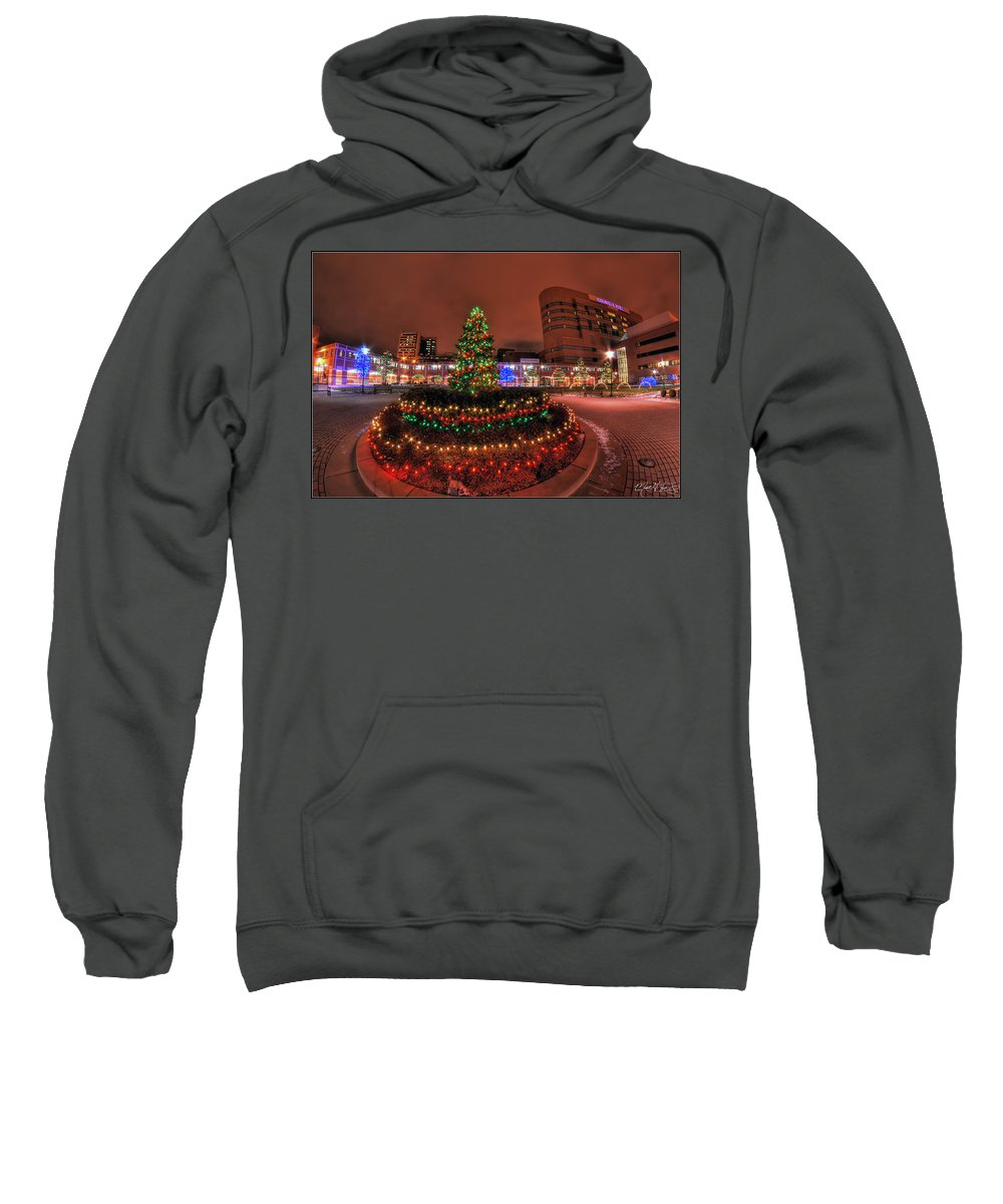 Sweatshirt featuring the photograph 004 Christmas Light Show At Roswell Series by Michael Frank Jr