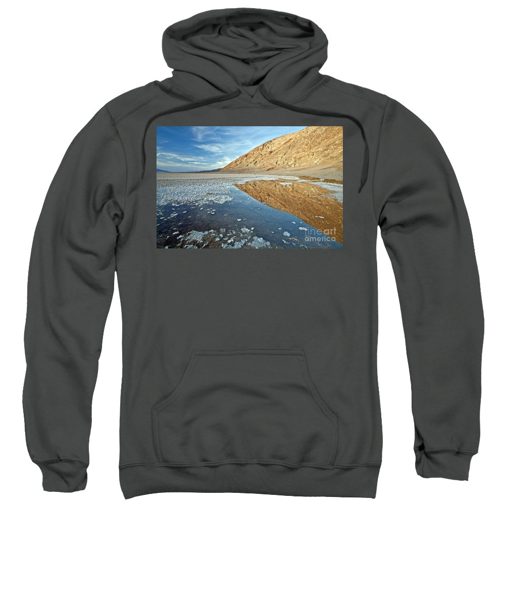 Bad Sweatshirt featuring the photograph 0330 Badwater Basin by Steve Sturgill