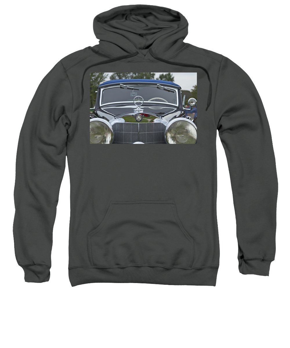 Antique Sweatshirt featuring the photograph 1937 Mercedes Benz by Jack R Perry
