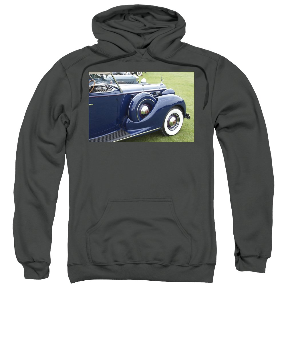 Antique Sweatshirt featuring the photograph 1938 Packard by Jack R Perry
