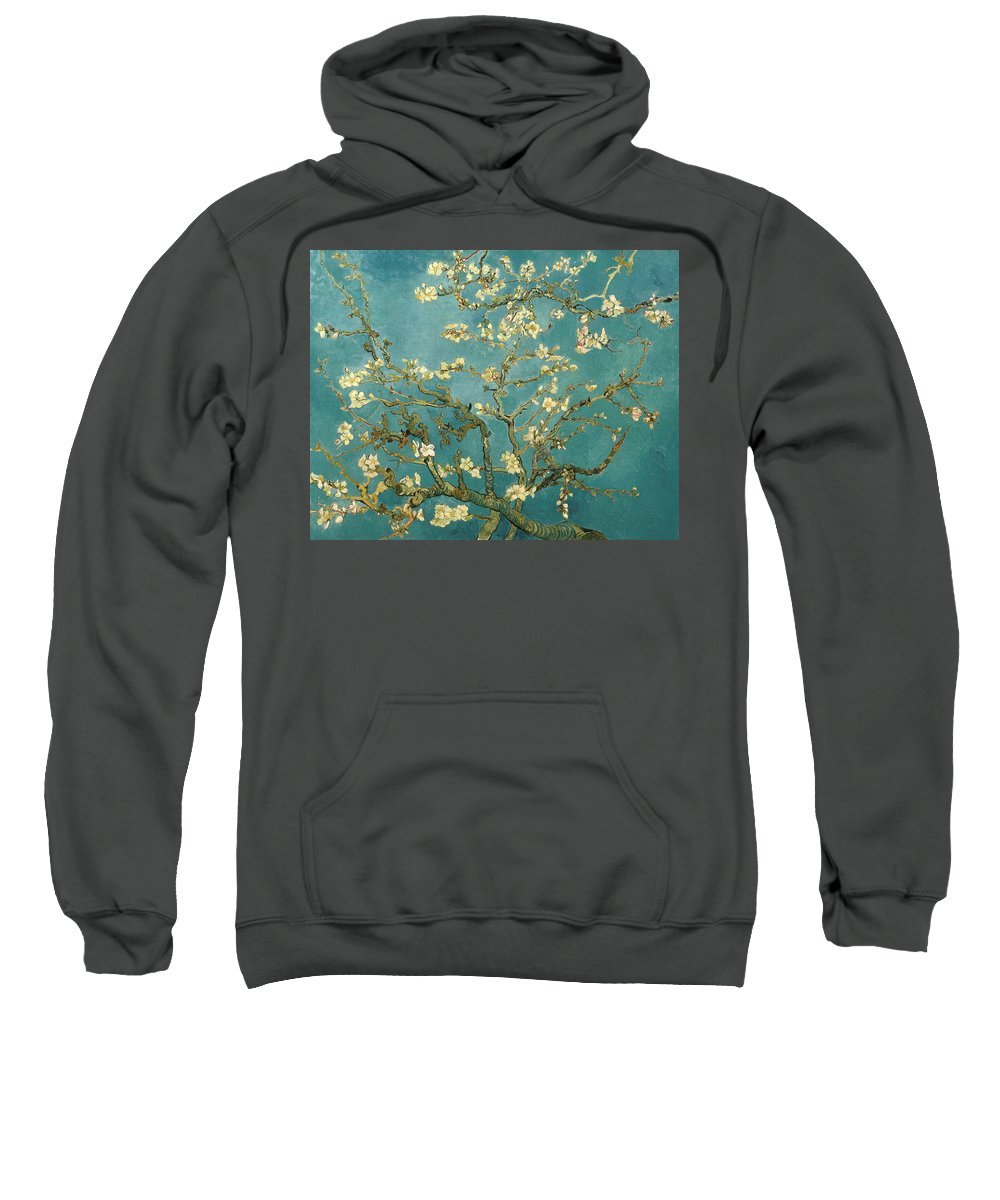 Niagara Falls Sweatshirt featuring the painting Almond Blossoms by Mountain Dreams