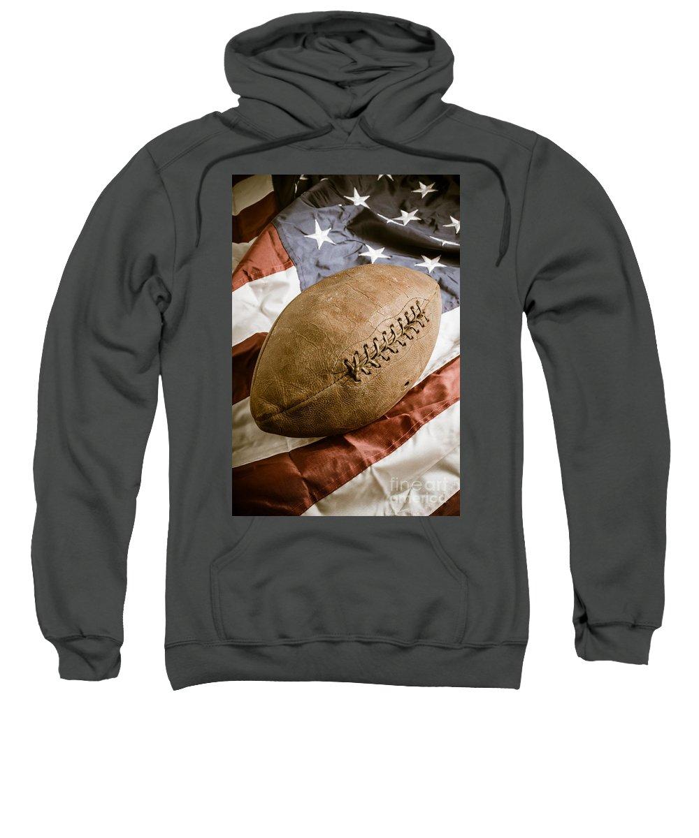 Football Sweatshirt featuring the photograph American Football by Edward Fielding
