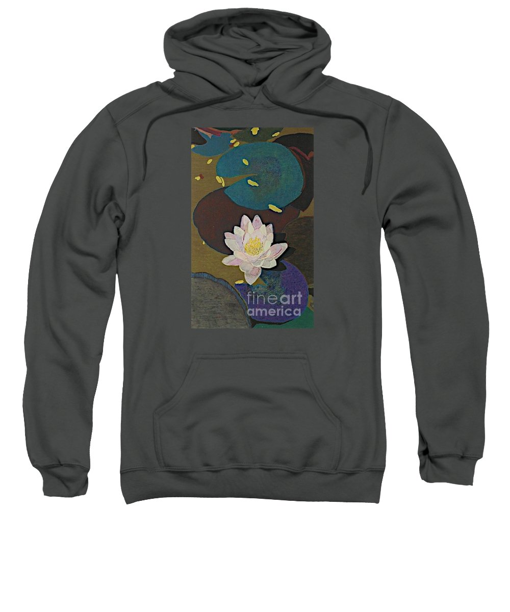 Landscape Sweatshirt featuring the painting Autumn Lily by Allan P Friedlander