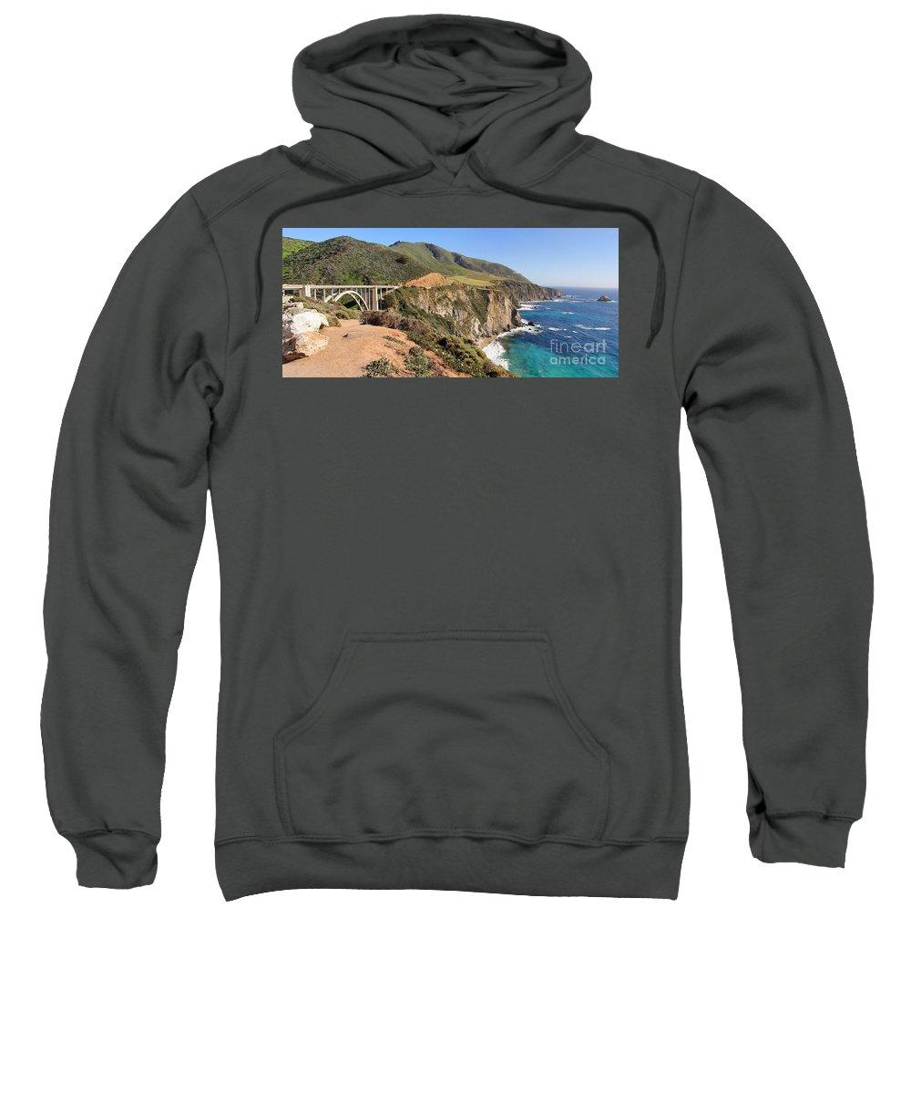 Bixby Creek Bridge Sweatshirt featuring the photograph Bixby Creek Bridge by Jack Schultz